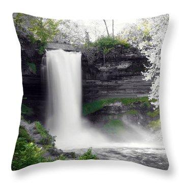 Minne Haha Falls Throw Pillow
