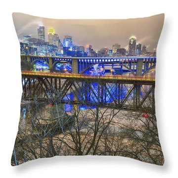Minneapolis Bridges Throw Pillow