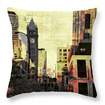 Minneapolis Clock Tower Throw Pillow