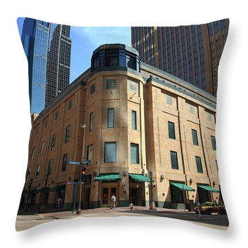 Throw Pillow featuring the photograph Minneapolis Downtown by Frank Romeo