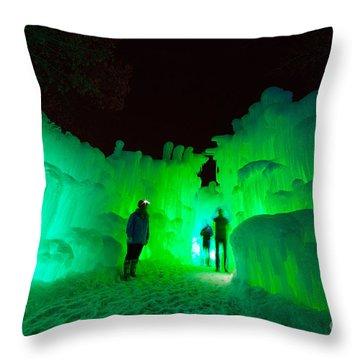 Ice Castles Of Minnesota Throw Pillow