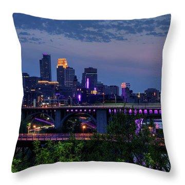 Minneapolis In Purple 1 Throw Pillow