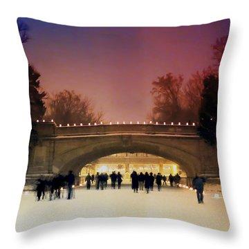 Minneapolis Loppet At Night Throw Pillow