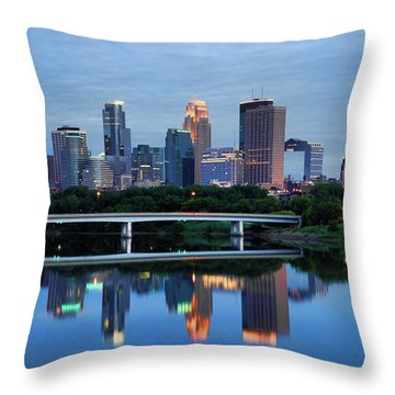 Minneapolis Reflections Throw Pillow by Rick Berk