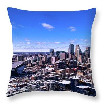 Minneapolis Skyline On A Sunny Day Throw Pillow