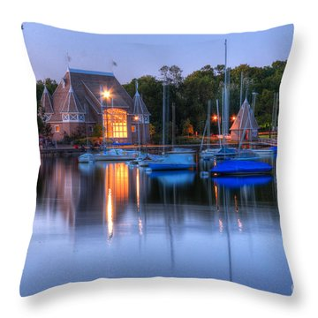 Minneapolis Skyline Photography Throw Pillow