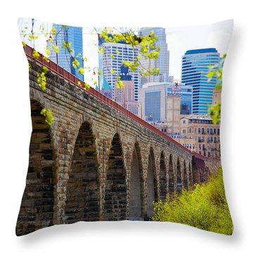 Minneapolis Stone Arch Bridge Photography Seminar Throw Pillow
