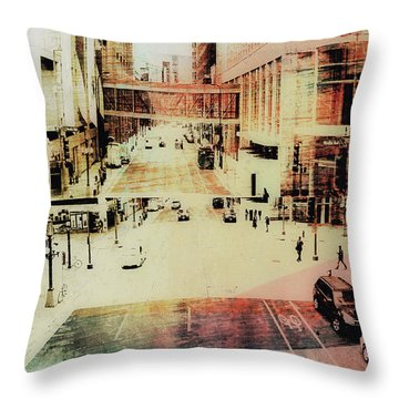 Minneapolis  Streets  4 Throw Pillow