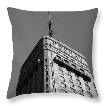 Throw Pillow featuring the photograph Minneapolis Tower 6 Bw by Frank Romeo