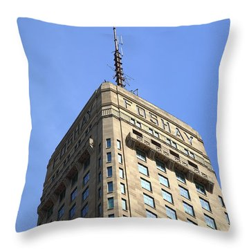 Throw Pillow featuring the photograph Minneapolis Tower 6 by Frank Romeo