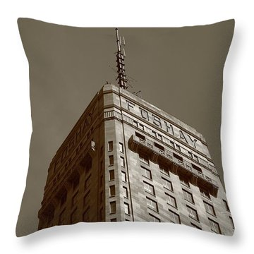 Throw Pillow featuring the photograph Minneapolis Tower 6 Sepia by Frank Romeo