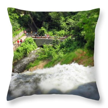 Minnehaha Falls From Above Throw Pillow