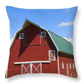 Minnesota Barn Throw Pillow by Patricia Schaefer