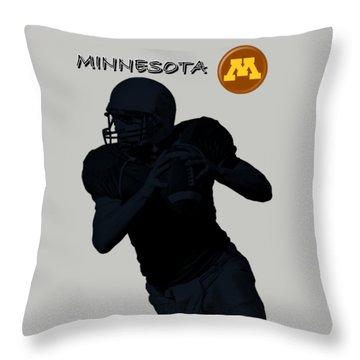 Minnesota Football Throw Pillow by David Dehner