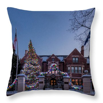 Throw Pillow featuring the photograph Christmas Lights Series #6 - Minnesota Governor's Mansion by Patti Deters