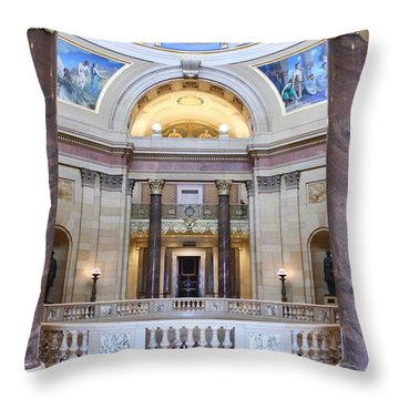 Minnesota House Doors Throw Pillow