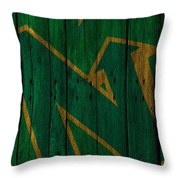 Minnesota North Stars Wood Fence Throw Pillow