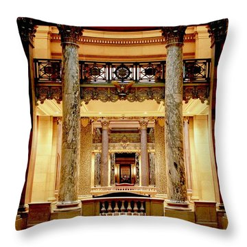 Minnesota Capitol Senate Throw Pillow
