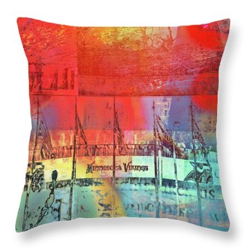 Throw Pillow featuring the photograph Minnesota Vikings Art by Susan Stone