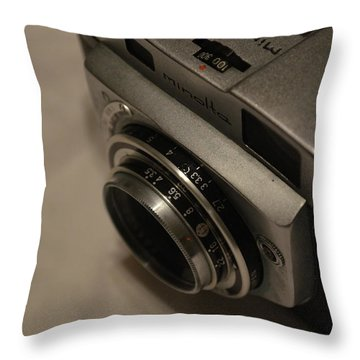 Minolta A Throw Pillow by Gordon Mooneyhan