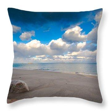 Minot Beach In Scituate Massachusetts  Throw Pillow