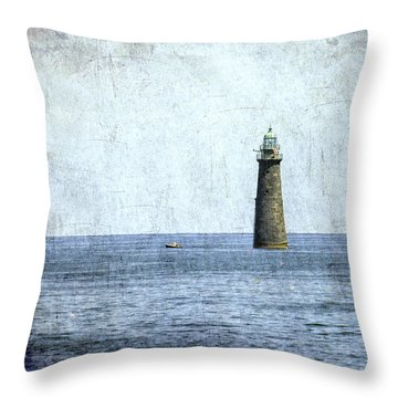 Minot Ledge Light Throw Pillow