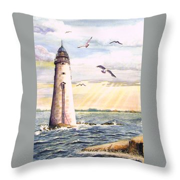 Minot Lighthouse Or The I Love You Lighthouse Throw Pillow