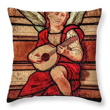 Paris, France - Minstrel Angel Throw Pillow