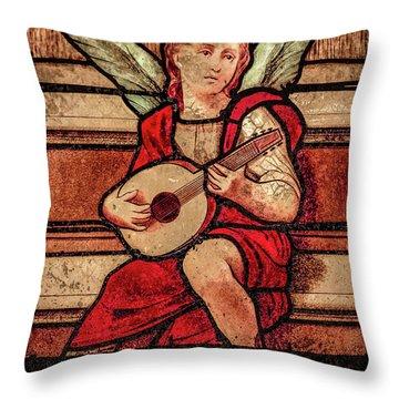 Paris, France - Minstrel Angel Throw Pillow