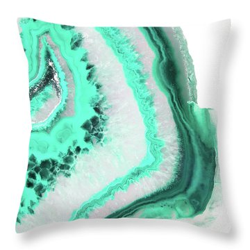 Mint Agate Throw Pillow