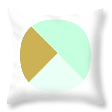 Mint And Gold Ball- By Linda Woods Throw Pillow