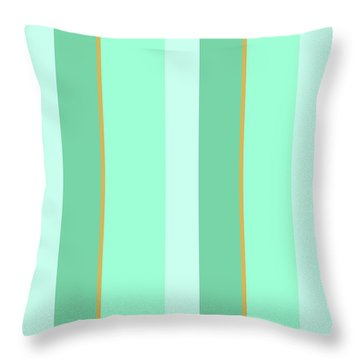 Mint Green Stripe Pattern Throw Pillow by Christina Rollo