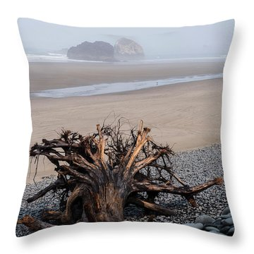 Minus Tide At Arch Cape Throw Pillow