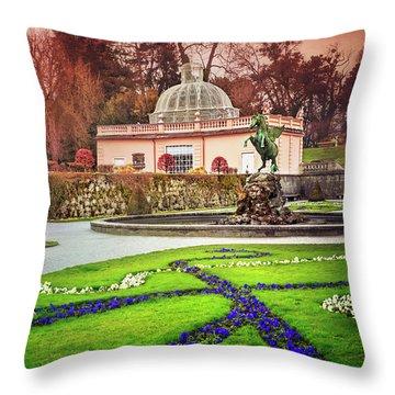 Mirabell Gardens Salzburg  Throw Pillow