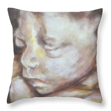 Miracle Baby Throw Pillow