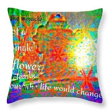Miracles Throw Pillow