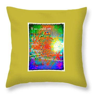 Miracles Throw Pillow