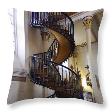 Throw Pillow featuring the photograph Miraculous Stairs by Kurt Van Wagner
