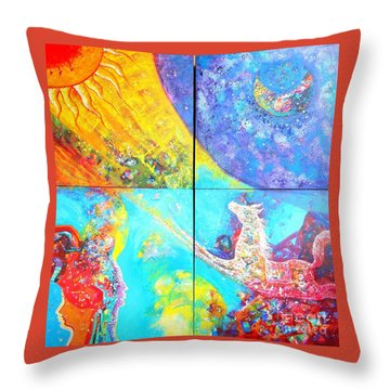 sold out to Ms Mittal delhi Throw Pillow