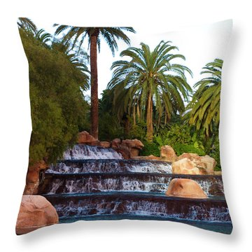 Mirage Waterfall Throw Pillow by Rae Tucker