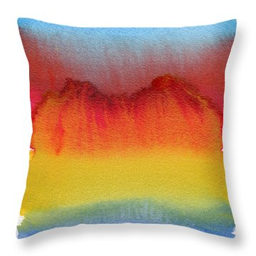 Throw Pillow featuring the painting Miraggio by Bee-Bee Deigner