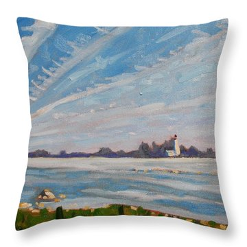 Miramachi Contrails Throw Pillow by Phil Chadwick
