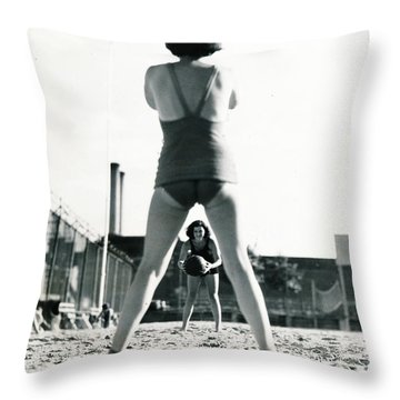 Miramar Pool, 1932 Throw Pillow