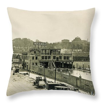 Throw Pillow featuring the photograph Miramar Pool, 1927 by Cole Thompson
