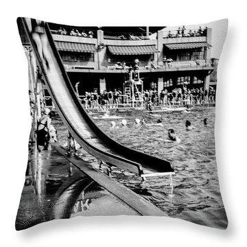 Miramar Pool  Throw Pillow