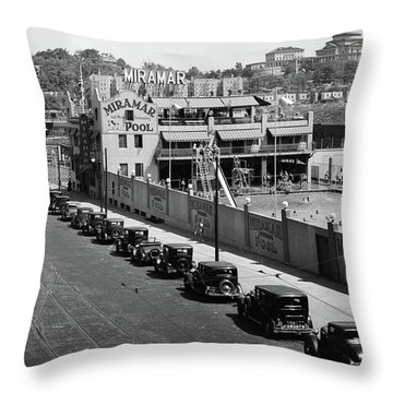 Throw Pillow featuring the photograph Miramar Saltwater Pool by Cole Thompson