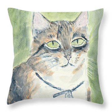 Throw Pillow featuring the painting Miranda by Kathryn Riley Parker