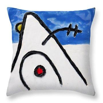 Miroesque Throw Pillow