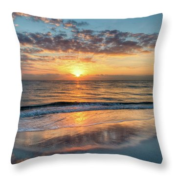 Throw Pillow featuring the photograph Mirror At Sunrise by Debra and Dave Vanderlaan