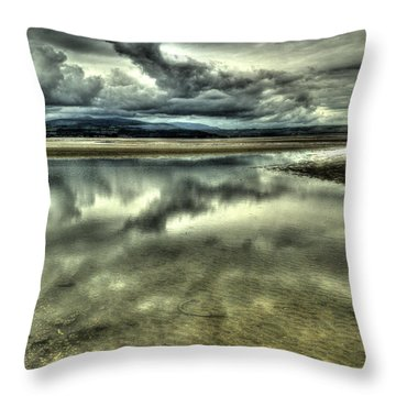 Mirror Beach Throw Pillow